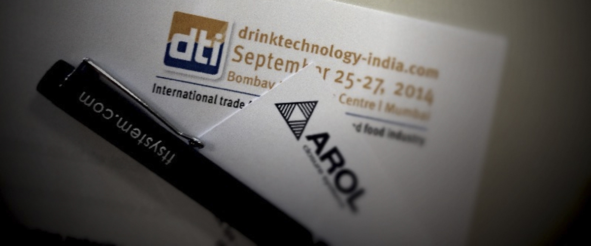 Arol is attending at Drinktec India 2014